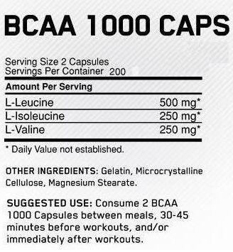 ON-BCAA-400-Caps-Nutrition-Facts