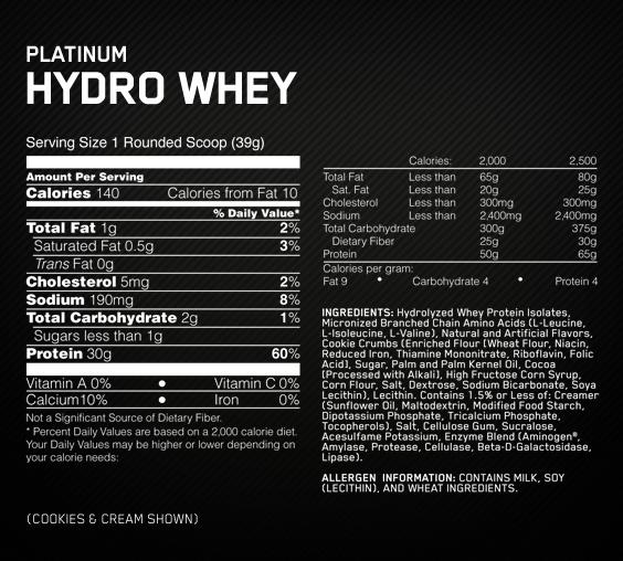 Platinum-Hydrowhey-fact