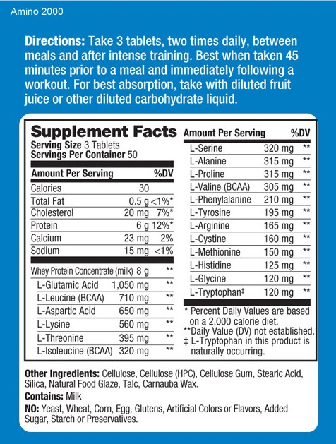 prolab-amino-2000-facts