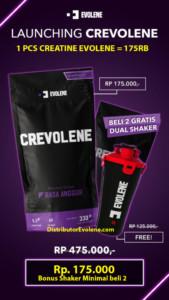 Crevolene Creatine Evolene 330 Gram Kreatin BPOM Halal